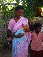 Maman et nourrisson Inde