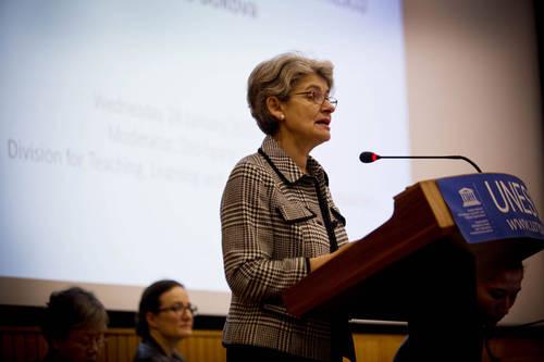 Mme Irina Bokova Directrice Générale de l'UNESCO