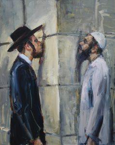 « BROTHERS », huile sur toile, 162 X 130 cm par Cornel Barsan