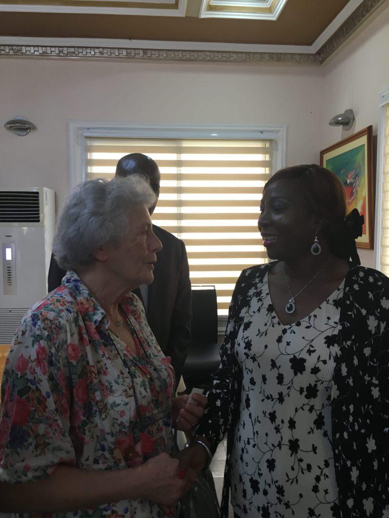 Christine Roche et Madame la Ministre Kandia Camara
